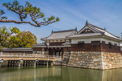 Hiroshima castle garden in Japan Royalty Free Stock Photos