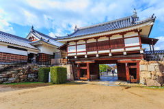 Hiroshima castle gate Stock Images