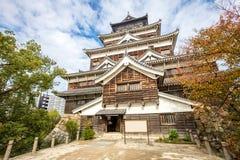 Hiroshima castle in Hiroshima Prefecture, Chugoku region. Japan royalty free stock image