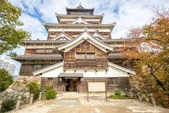 Hiroshima castle in Hiroshima Prefecture, Chugoku region. Japan stock image