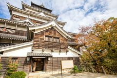 Hiroshima castle in Hiroshima Prefecture, Chugoku region. Japan stock photography
