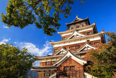Hiroshima castle, Japan Royalty Free Stock Image