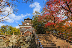 Hiroshima Castle. In Hiroshima, Japan on November 15, 2013. Built in 1589 by the powerful feudal lord Mori Terumoto, it was an important seat of power in Royalty Free Stock Photography