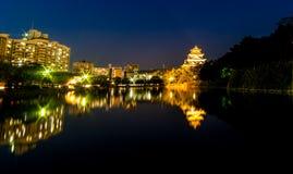 Hiroshima City light reflection Royalty Free Stock Photo