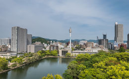 Hiroshima cityscape Royalty Free Stock Images
