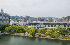 Hiroshima cityscape Stock Photos