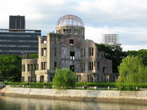 Hiroshima Dome. Photo of a Hiroshima dome standing next to a river. One of the few only surviving structures after the Hiroshima nuclear holocaust Stock Photography