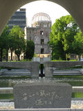 Hiroshima dome, monument and eternal flame Stock Photography