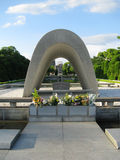 Hiroshima dome, monument and eternal flame Royalty Free Stock Photography