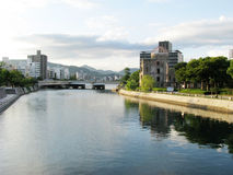 Hiroshima dome and a river Stock Image