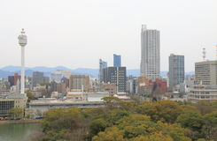 Hiroshima downtown cityscape Japan Royalty Free Stock Image