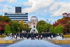 Hiroshima fred Memorial Park arkivfoto