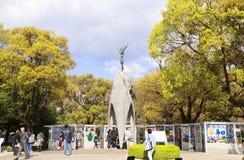 Hiroshima, Japan - April 01, 2019: Children`s Peace Monument. To commemorate Sadako Sasaki and the children victims of the atomic bombing of Hiroshima city 6 stock image