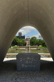 Hiroshima japan atomic arch peace park and dome Royalty Free Stock Images