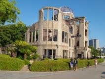 Hiroshima Peace Memorial, Japan. Hiroshima/Japan - August 07 2018: Detail of Hiroshima Peace Memorial, Japan. The ruin serves as a memorial to the people killed royalty free stock image
