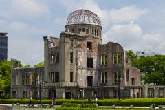 Hiroshima, Japan - May 25, 2017:  The skeletal ruins of the form Stock Images