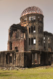 HIROSHIMA, JAPAN- MAY 27:View on the atomic bomb dome in Hiroshima Japan. UNESCO World Heritage Site on May 27,2016 Stock Photos