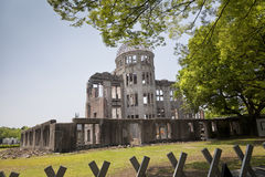 HIROSHIMA, JAPAN- MAY 27:View on the atomic bomb dome in Hiroshima Japan. UNESCO World Heritage Site on May 27,2016. View on the atomic bomb dome in Hiroshima Royalty Free Stock Photography