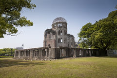 HIROSHIMA, JAPAN- MAY 27:View on the atomic bomb dome in Hiroshima Japan. UNESCO World Heritage Site on May 27,2016. View on the atomic bomb dome in Hiroshima Stock Photography