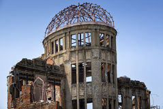 HIROSHIMA, JAPAN- MAY 27:View on the atomic bomb dome in Hiroshima Japan. UNESCO World Heritage Site on May 27,2016 Royalty Free Stock Photo