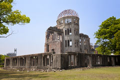 HIROSHIMA, JAPAN- MAY 27:View on the atomic bomb dome in Hiroshima Japan. UNESCO World Heritage Site on May 27,2016. View on the atomic bomb dome in Hiroshima Stock Images