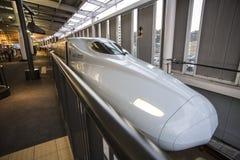 HIROSHIMA, JAPAN - OCTOBER 26: Shinkansen in hiroshima, Japan on Royalty Free Stock Photo