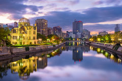 Hiroshima, Japan Skyline Royalty Free Stock Photography