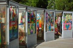 Hiroshima-Kind-` s Friedensdenkmal Stockbilder