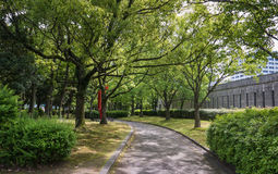 Hiroshima museum of art. Hiroshima, Japan - May 5, 2016: Garden of Hiroshima museum of art in Hiroshima Prefecture, Chugoku region, Japan Stock Image