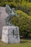 Hiroshima museum of art. Hiroshima, Japan - May 5, 2016: Pegasus statue in front of Hiroshima museum of art in Hiroshima Prefecture, Chugoku region, Japan royalty free stock image