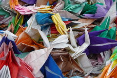 hiroshima pamiątkowy origami parka pokój zdjęcie royalty free