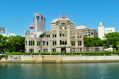 Hiroshima Peace Memorial. (Genbaku Dome) also commonly known as A-Bomb Dome (Hiroshima, Japan). It is a UNESCO World Heritage site Royalty Free Stock Photography