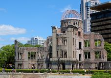 Hiroshima Peace Memorial `Atomic Bomb Dome` stock images