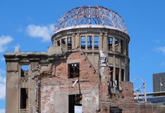 Hiroshima Peace Memorial `Atomic Bomb Dome` stock image