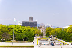Hiroshima Peace Memorial and the cenotaph Stock Image