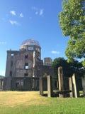 Hiroshima peace memorial. Dome in Japan stock image