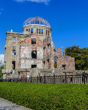 Hiroshima Peace Memorial (Genbaku Dome). Peace Memorial declared a UNESCO World Heritage in 1996, as a memorial to the dead on August 6, 1945 royalty free stock image