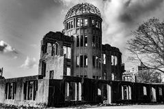 Hiroshima Peace Memorial - Genbaku Dome stock images