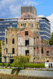 Hiroshima Peace Memorial (Genbaku Dome). Hiroshima, Japan - November 15 2013: Hiroshima Peace Memorial declared a UNESCO World Heritage in 1996, as a memorial to royalty free stock photo