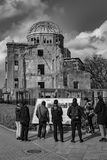 Hiroshima Peace Memorial - Genbaku Dome. The Hiroshima Peace Memorial Genbaku Dome originally the Hiroshima Prefectural Industrial Promotion Hall, and now royalty free stock images
