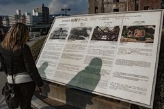 Hiroshima Peace Memorial - Genbaku Dome royalty free stock image