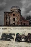 Hiroshima Peace Memorial - Genbaku Dome stock photo