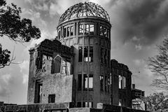 Hiroshima Peace Memorial - Genbaku Dome royalty free stock photo