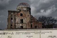 Hiroshima Peace Memorial - Genbaku Dome stock photography