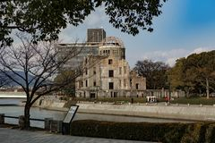 Hiroshima Peace Memorial - Genbaku Dome royalty free stock images