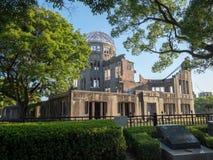 Hiroshima Peace Memorial, Japan. Hiroshima/Japan - August 07 2018: Detail of Hiroshima Peace Memorial, Japan. The ruin serves as a memorial to the people killed stock photography