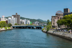 Hiroshima Peace Memorial park Stock Photos