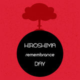 Hiroshima remembrance day. Vector illustration. Hiroshima remembrance day. Vector illustration of explosion Stock Photos