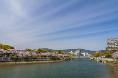 Hiroshima river in Japan Royalty Free Stock Images