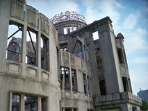 Hiroshima Ruins. The last building left from prior to the 1945 Hiroshima, Japan bombing as a memorial Royalty Free Stock Images
